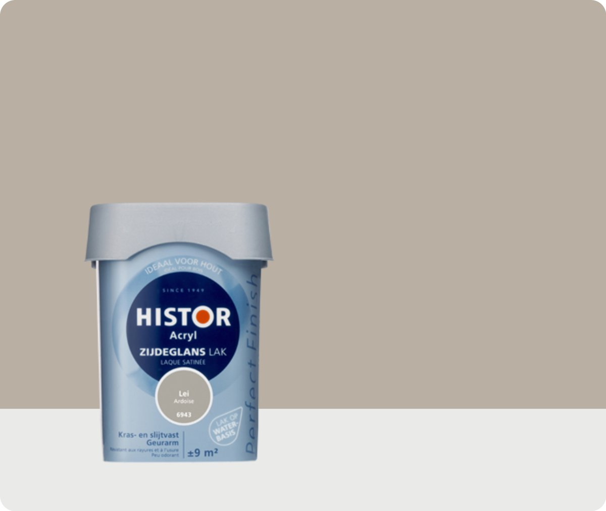 Histor Perfect Finish Lak Acryl Zijdeglans 0,75 liter - Lei