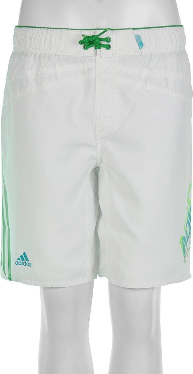 adidas Lineage Short Boys Knee Length Zwembroek Kinderen Maat 116 Wit;Groen