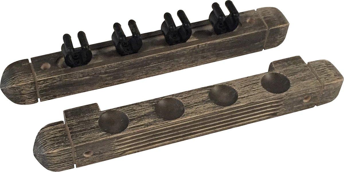 Buffalo cue wall rack for 4 cues grey kopen