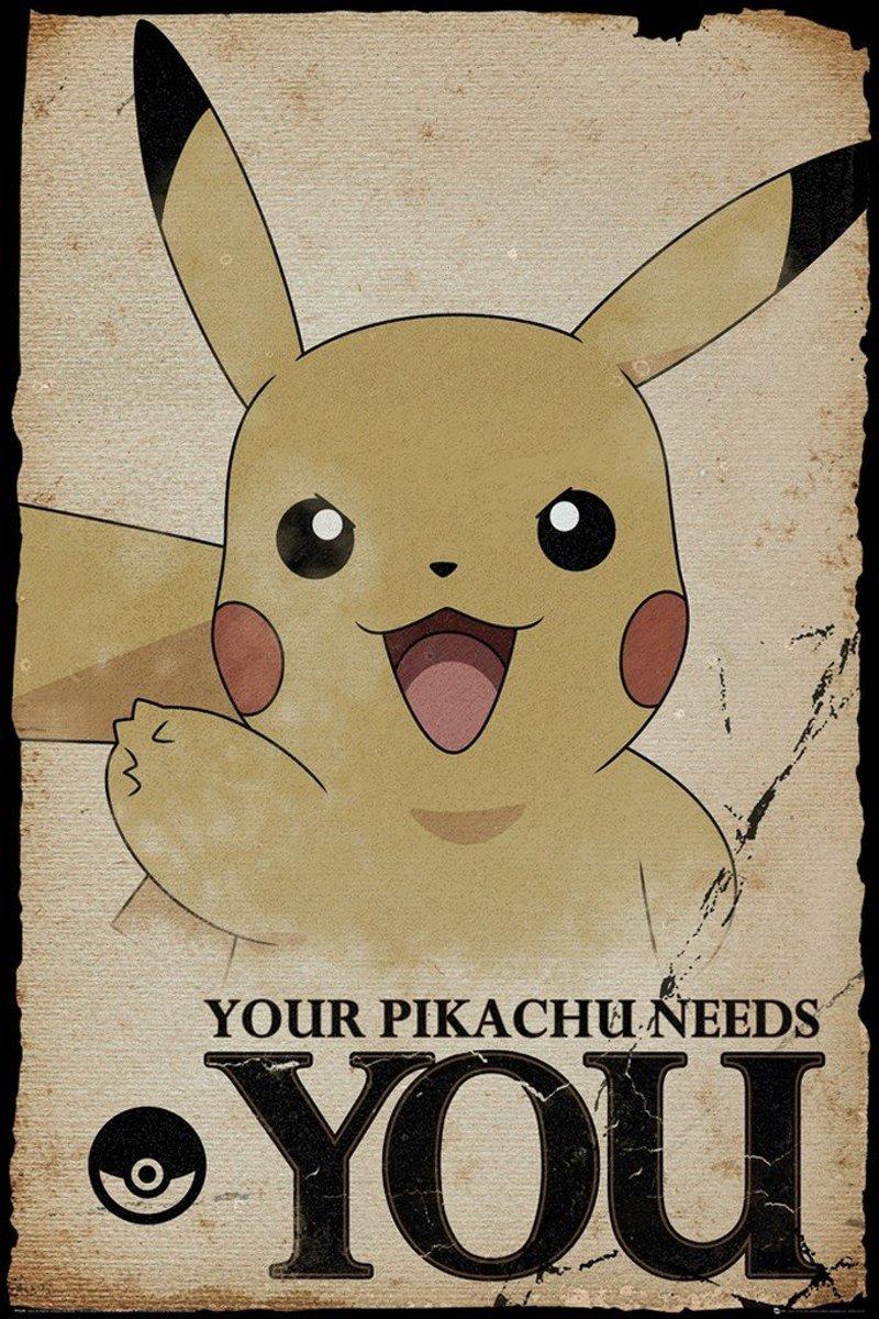 GBeye Pokemon Pikachu Needs You Poster 61x91,5cm kopen