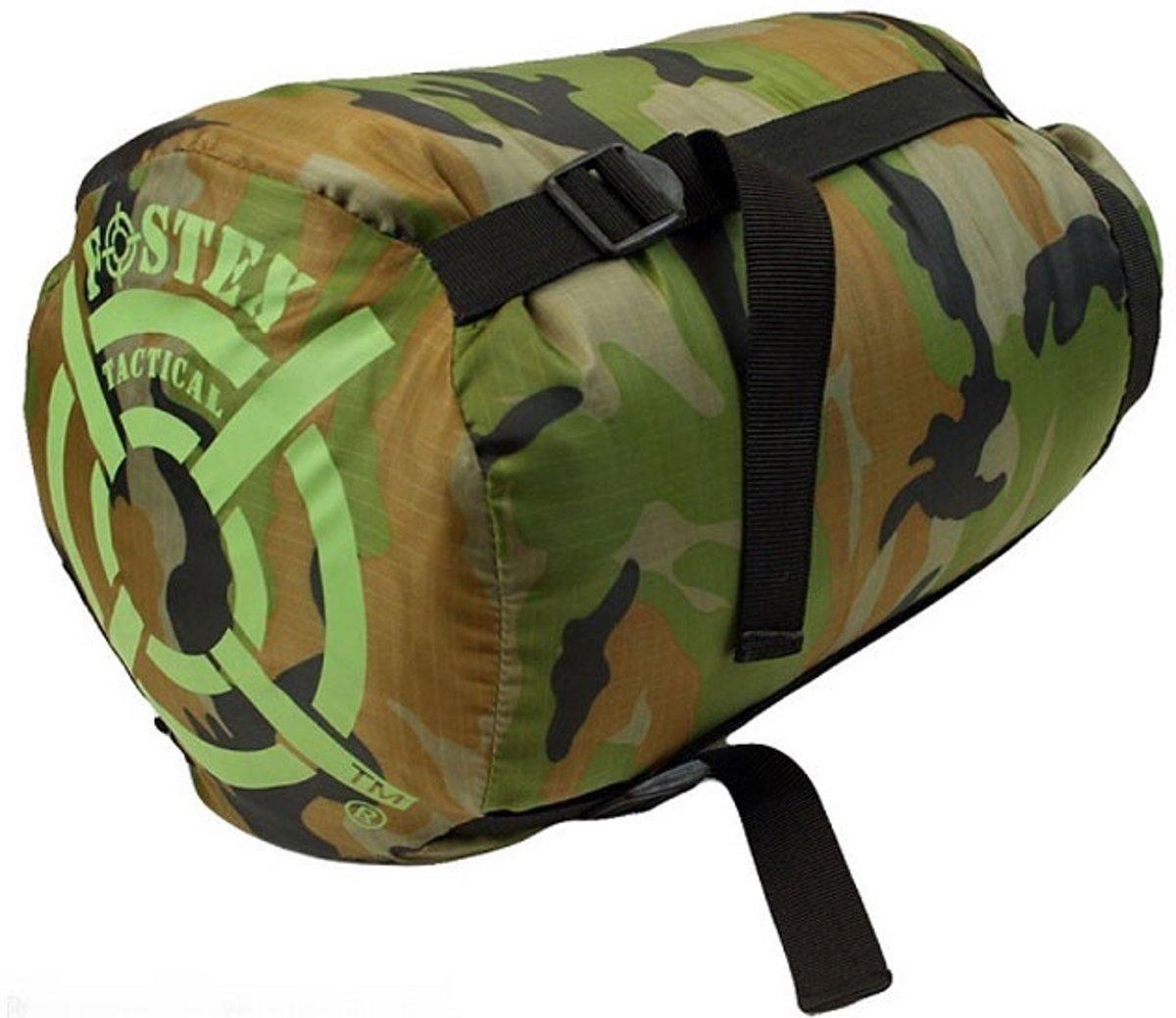 Fostex slaapzak sniper woodland camouflage kopen