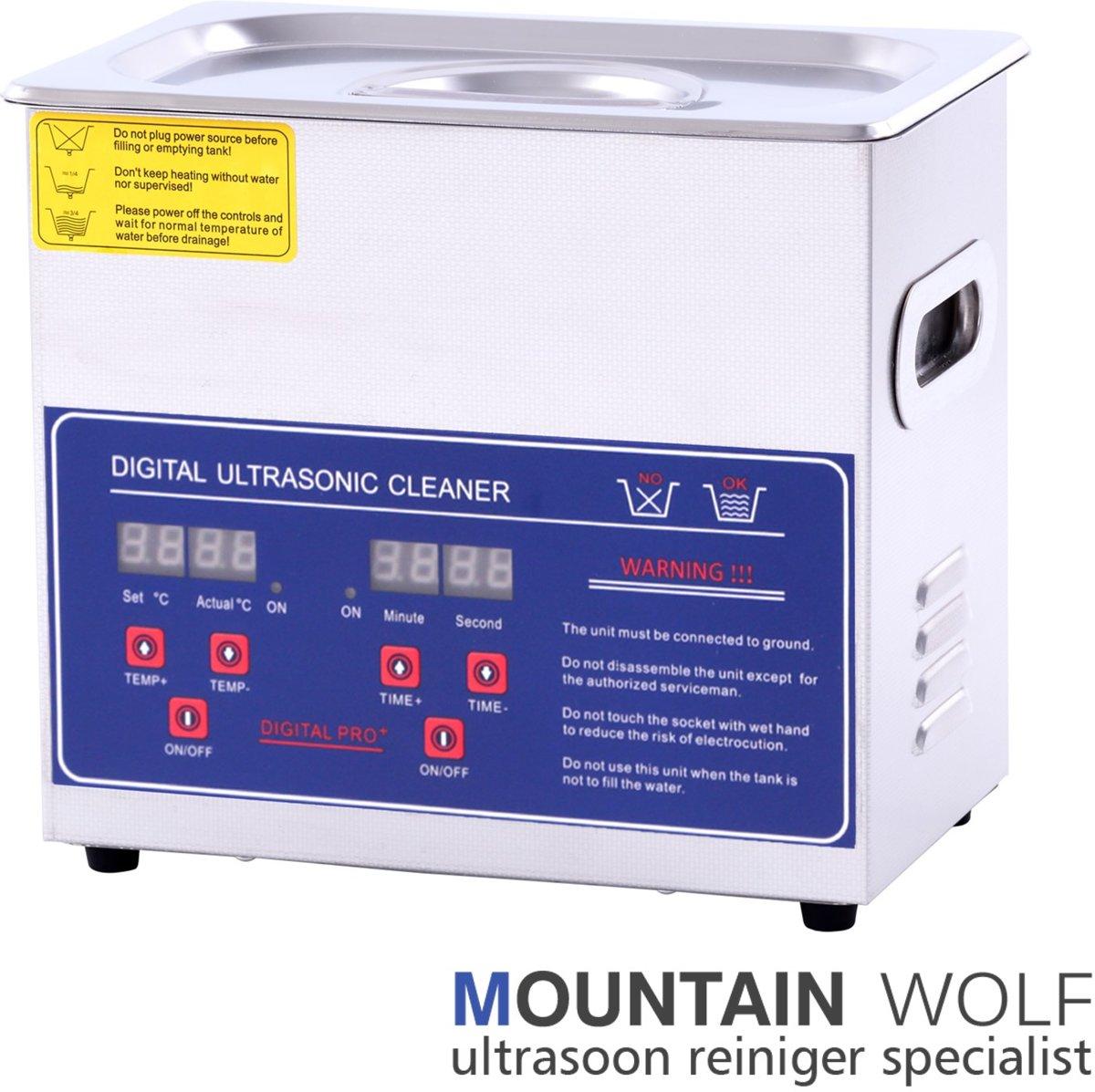 Ultrasoon reiniger 3 Liter - (Ultrasone Reinigingsmachine - Ultrasoonbad - Reinigingsbad - Reinigingsbak - Ultrasoonbak - Ultrasonic Cleaner - Reinigings bad - bak) kopen