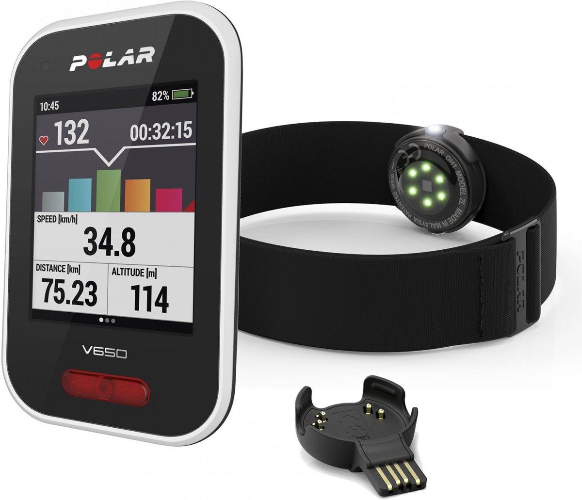 Polar V650 OH1 Fietscomputer - GPS - Zwart kopen