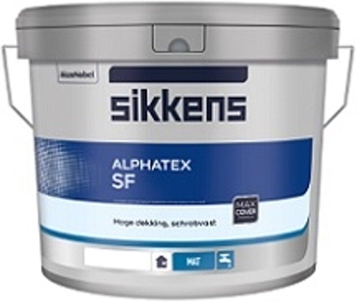 Sikkens Alphatex SF Mat RAL 9016 Verkeerswit 1 Liter