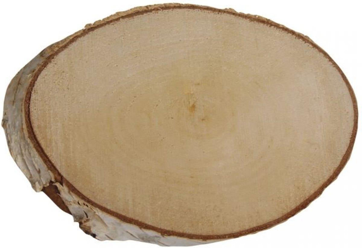 Afbeelding van product Rayher Hobby  Berken schijf ovaal Ø 21-23 cm 2 cm hoog