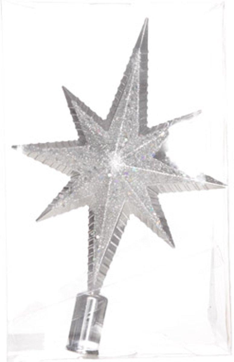 Cosy&Trendy Kerstboompiek Ster - 30 cm - Zilver kopen