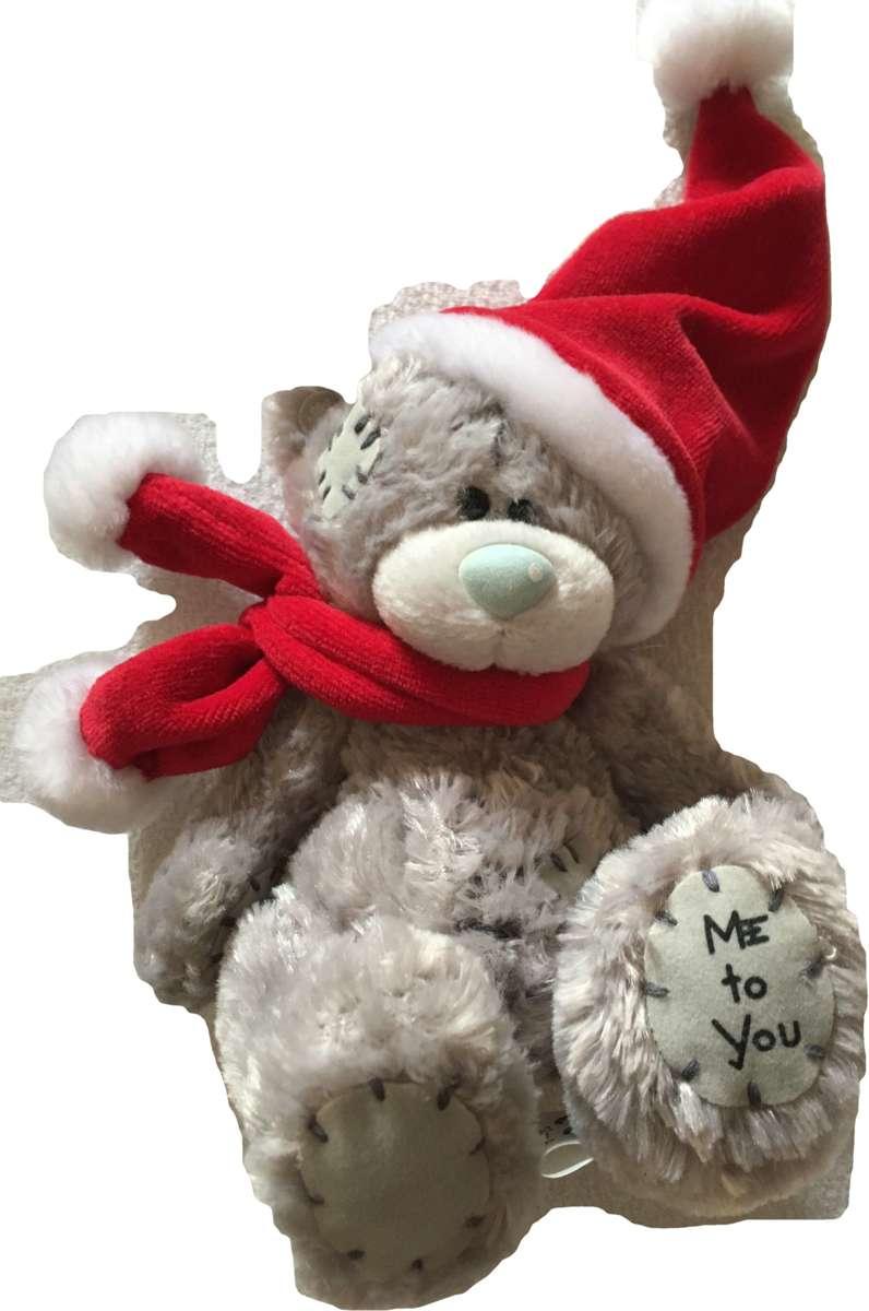 Afbeelding van product Me to You beertje met sjaal en kerstmuts 15 cm