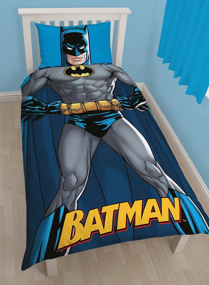 Batman - Dekbedovertrek - Eenpersoons - 140 x 200 cm - Grijs/blauw kopen