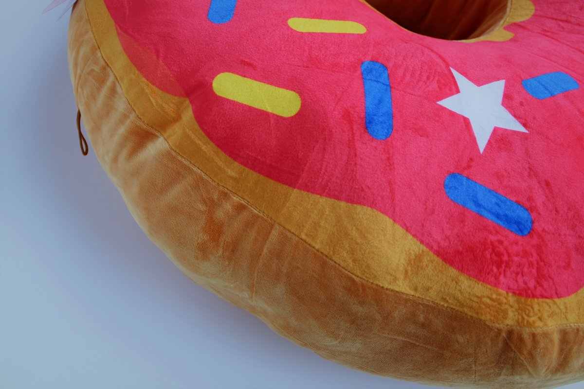 Bol peluche donut mega large cm zambesi speelgoed