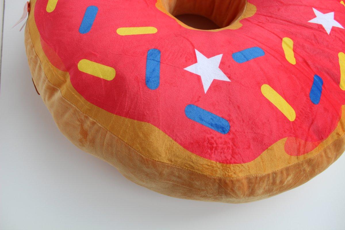 Bol.com peluche donut mega large 80 cm zambesi speelgoed