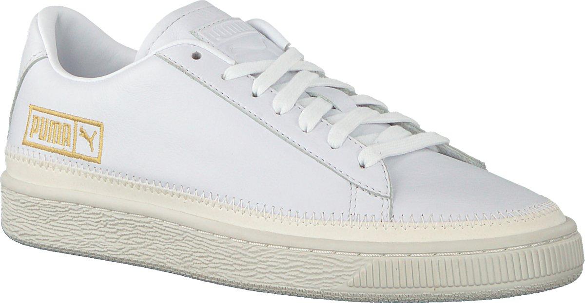 d9532f58617 bol.com | Puma Dames Sneakers Basket Trim Metallic Wn's - Wit - Maat 40+