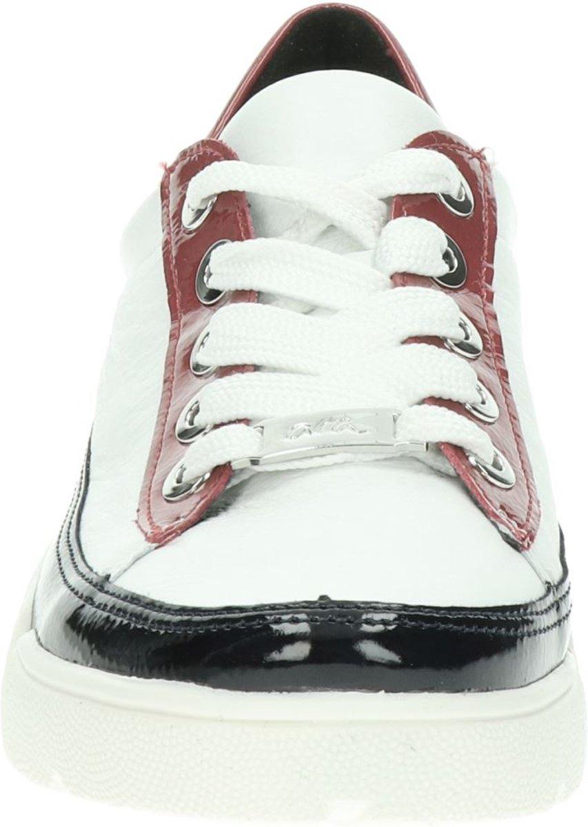 Ara Rom High Soft dames sneaker Wit rood Maat 41,5