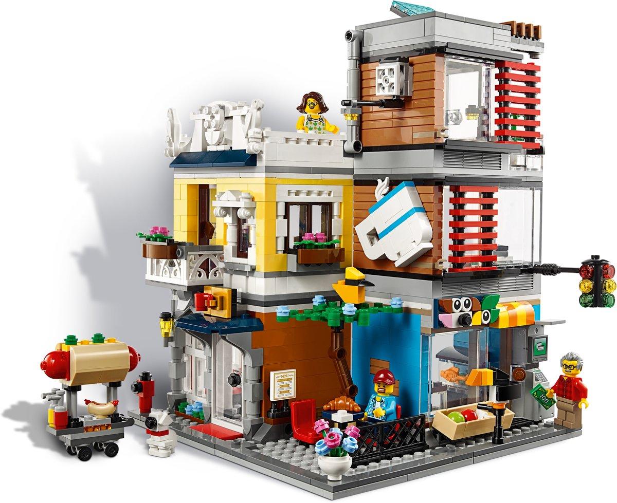 Verwonderend bol.com | LEGO Creator Woonhuis, Dierenwinkel & Café - 31097, LEGO NH-55