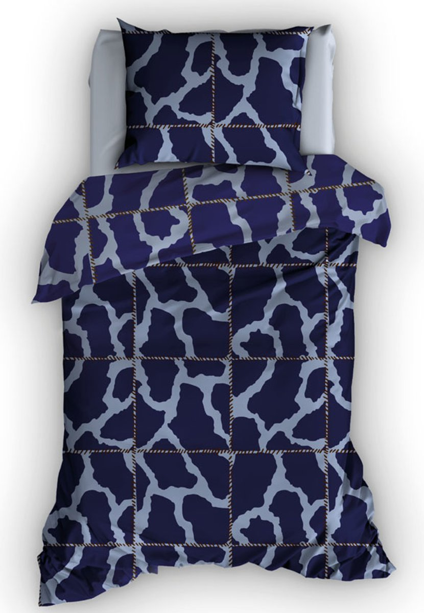 Duimelot Army dekbedovertrek Blauw Ledikant (100x150 cm - geen sloop) kopen