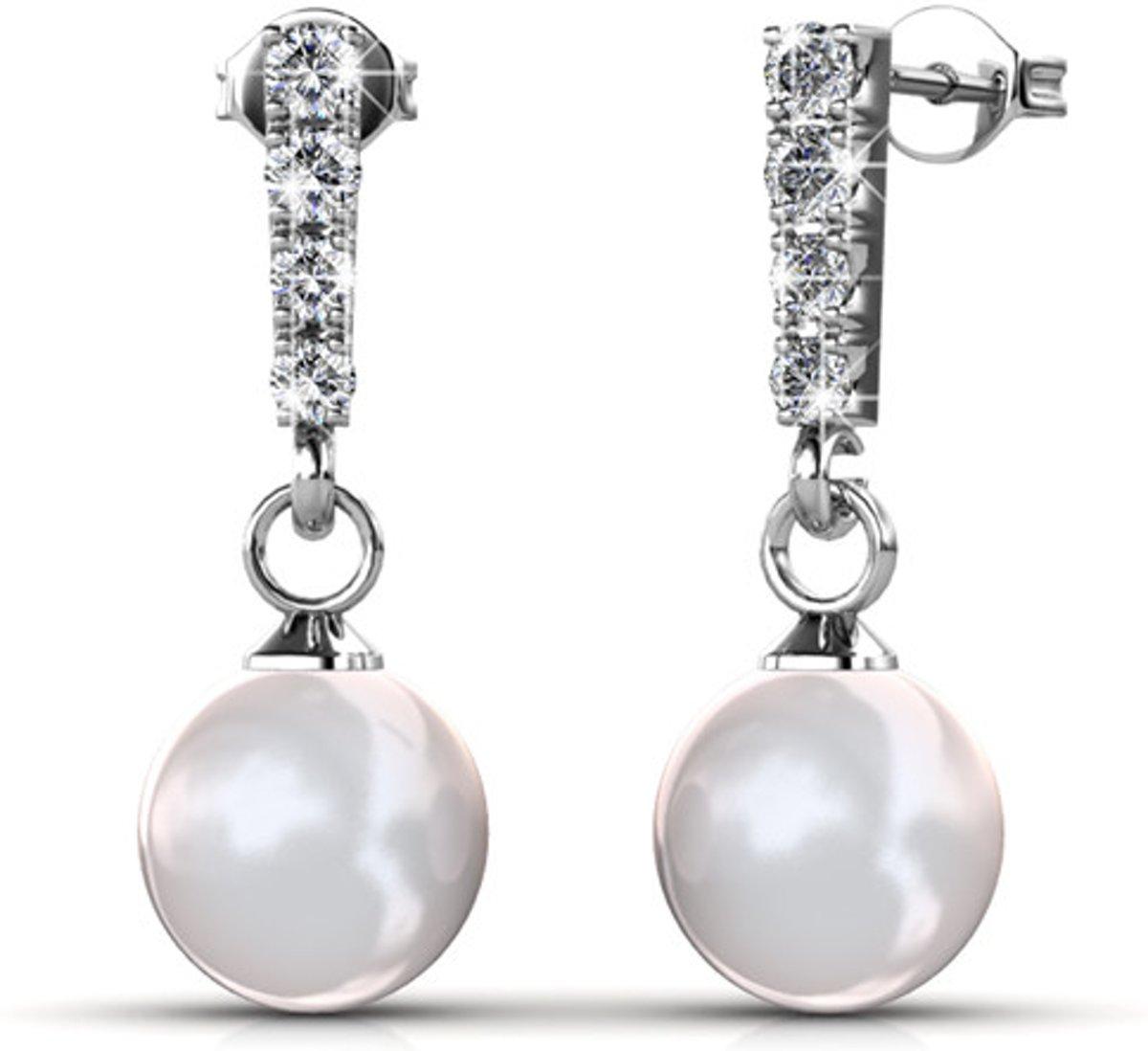 Dammade oorbellen - Swarovski Kristal - Zilverkleurig - Dames - Manila kopen