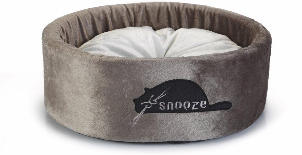 Beeztees Snooze kattenmand Pluche taupe