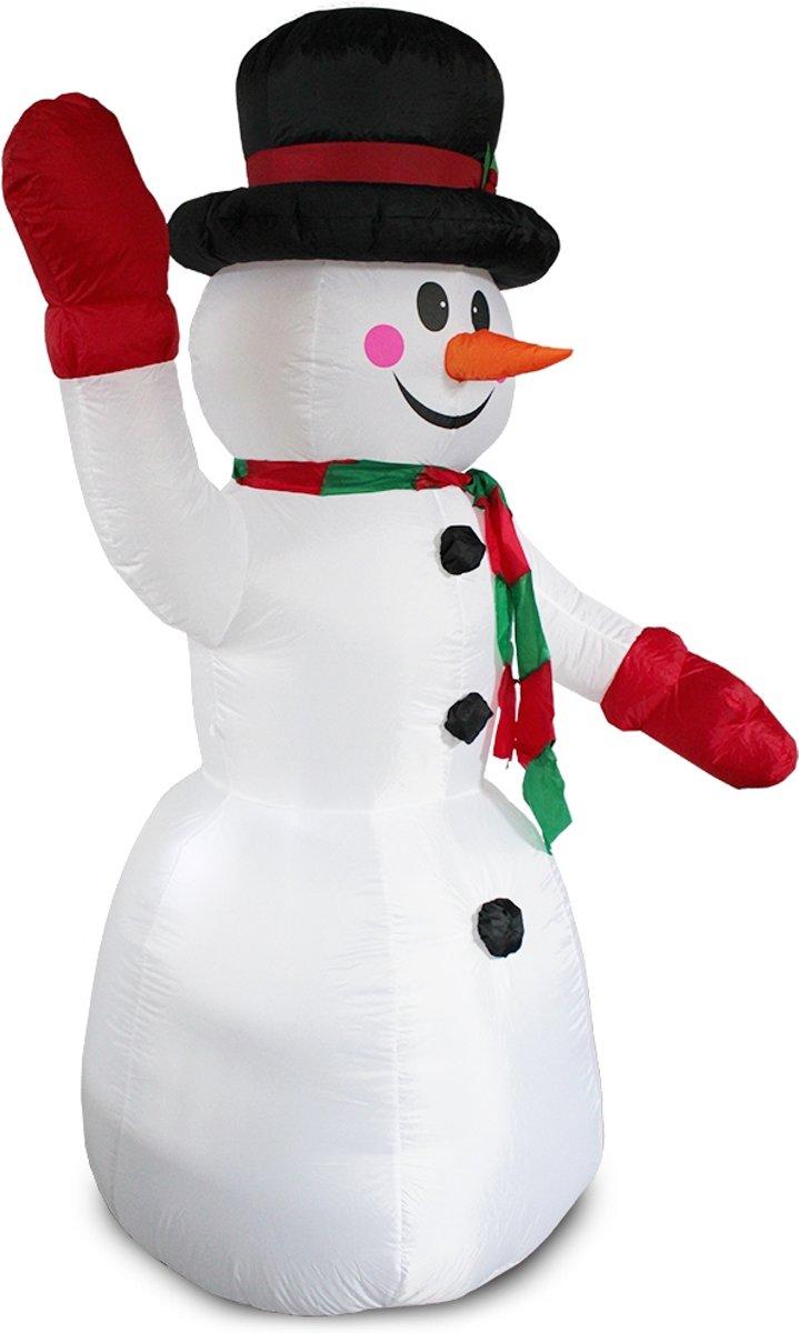 Bolcom Opblaasbare Gigantische Led Sneeuwpop 240 Cm