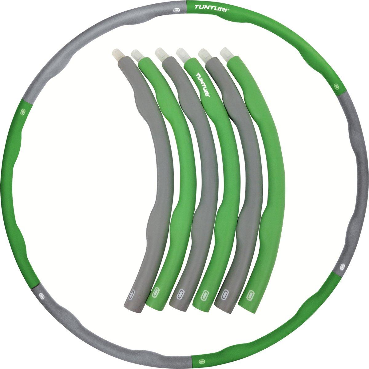 Tunturi Fitness Hoelahoep - Fitness hoepel - Fitness hulahoop - 1.8 kg - Groen/Grijs kopen