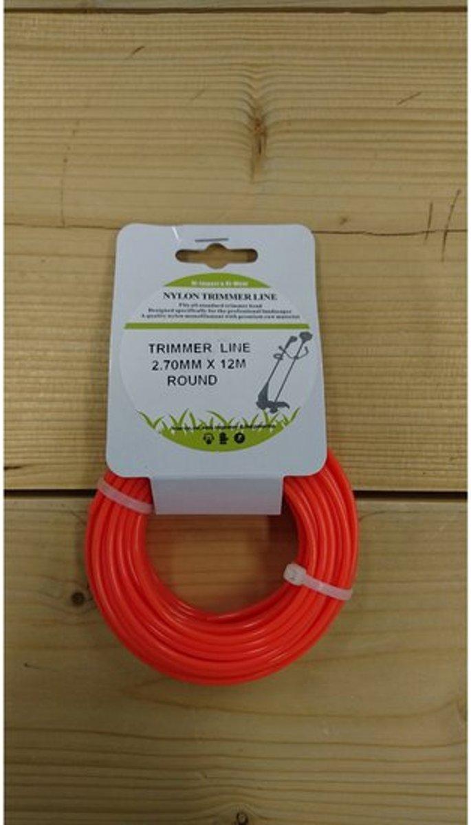 Trimmerdraad - maaidraad - trimmer line - universeel - 2,7 mm - 12 meter - nylon - oranje kopen
