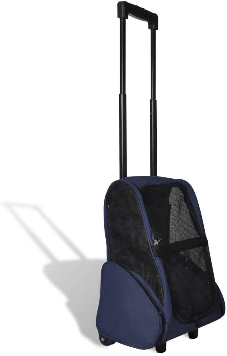 Inklapbare huisdier trolley (blauw) kopen