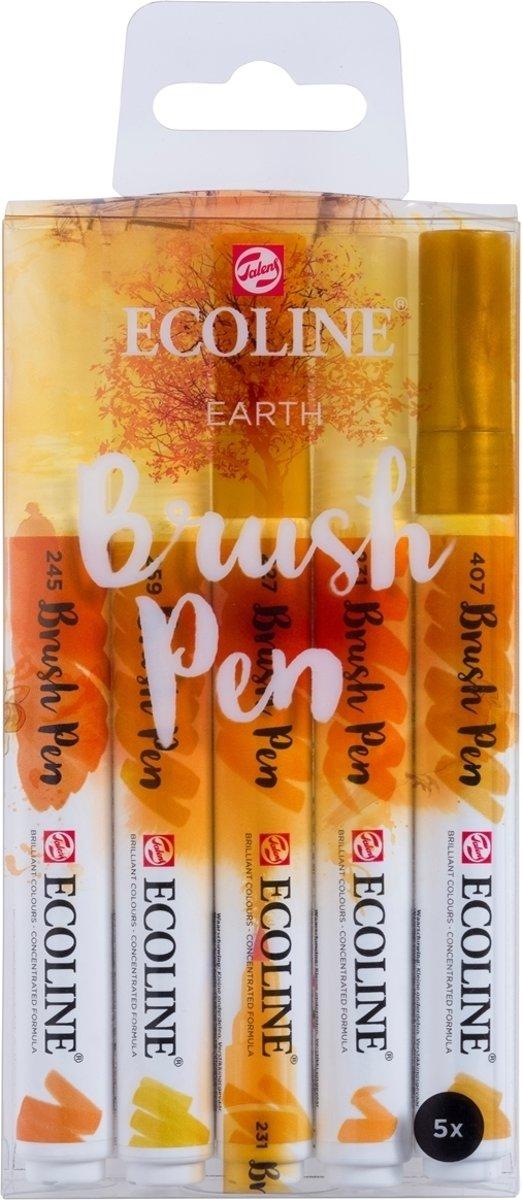 Talens Ecoline 5 brush pens Earth
