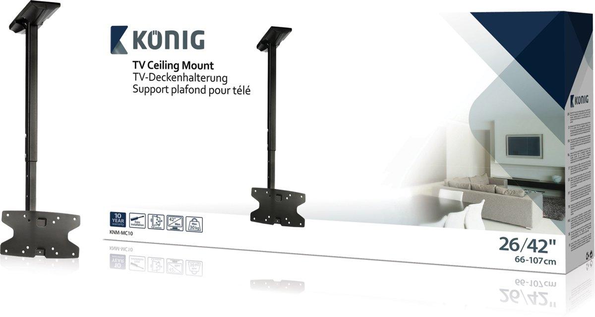 Konig KNM-MC10 - Vaste tv plafondbeugel - Geschikt voor tv's van 26 t/m 42 inch - Zwart kopen