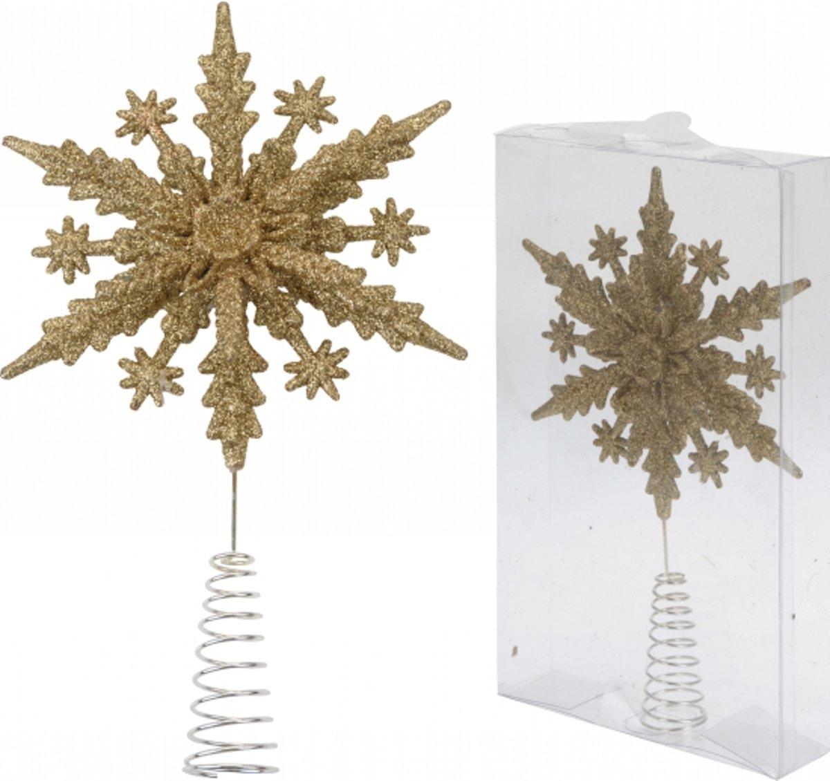 Gouden kerstboom piek sneeuwvlok kopen
