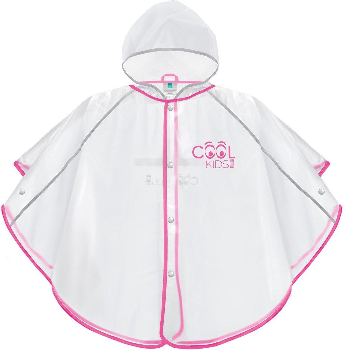 Perletti Regenponcho Meisjes Transparant/roze Maat 110/116 kopen
