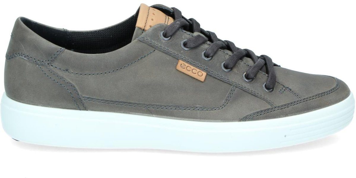 Nieuwe Ecco Soft 7 Taupe Lage Sneakers Dames Outlet