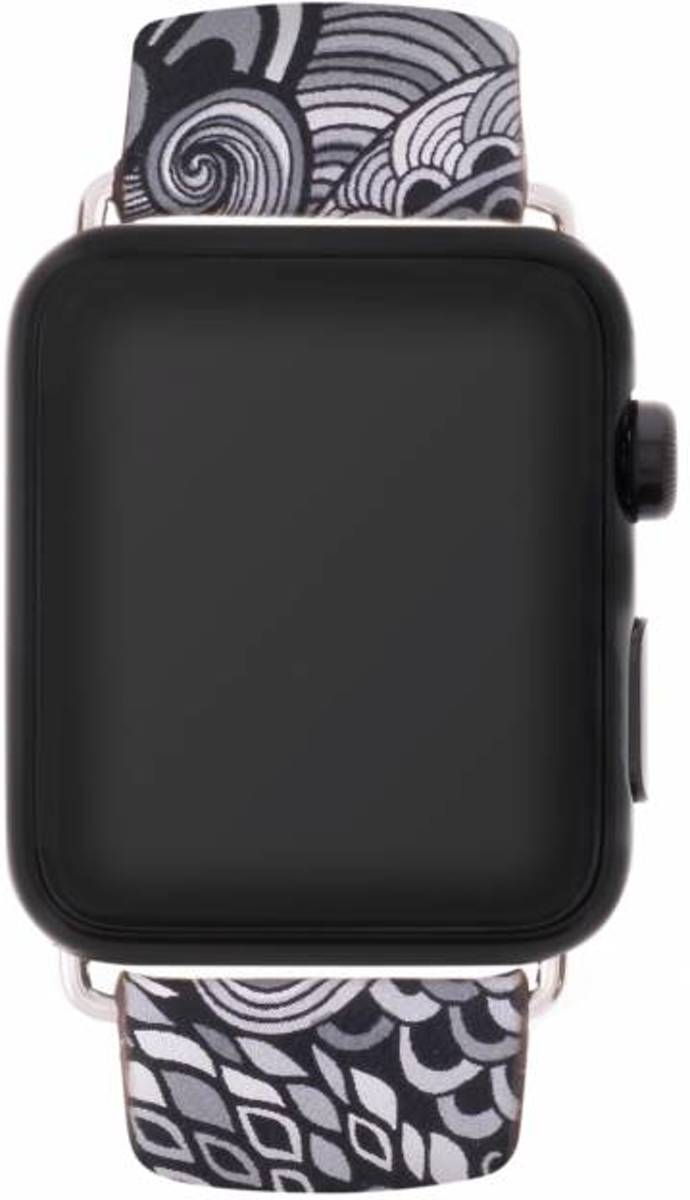 Zwart color design lederen bandje voor de Apple Watch 40 / 38 mm kopen