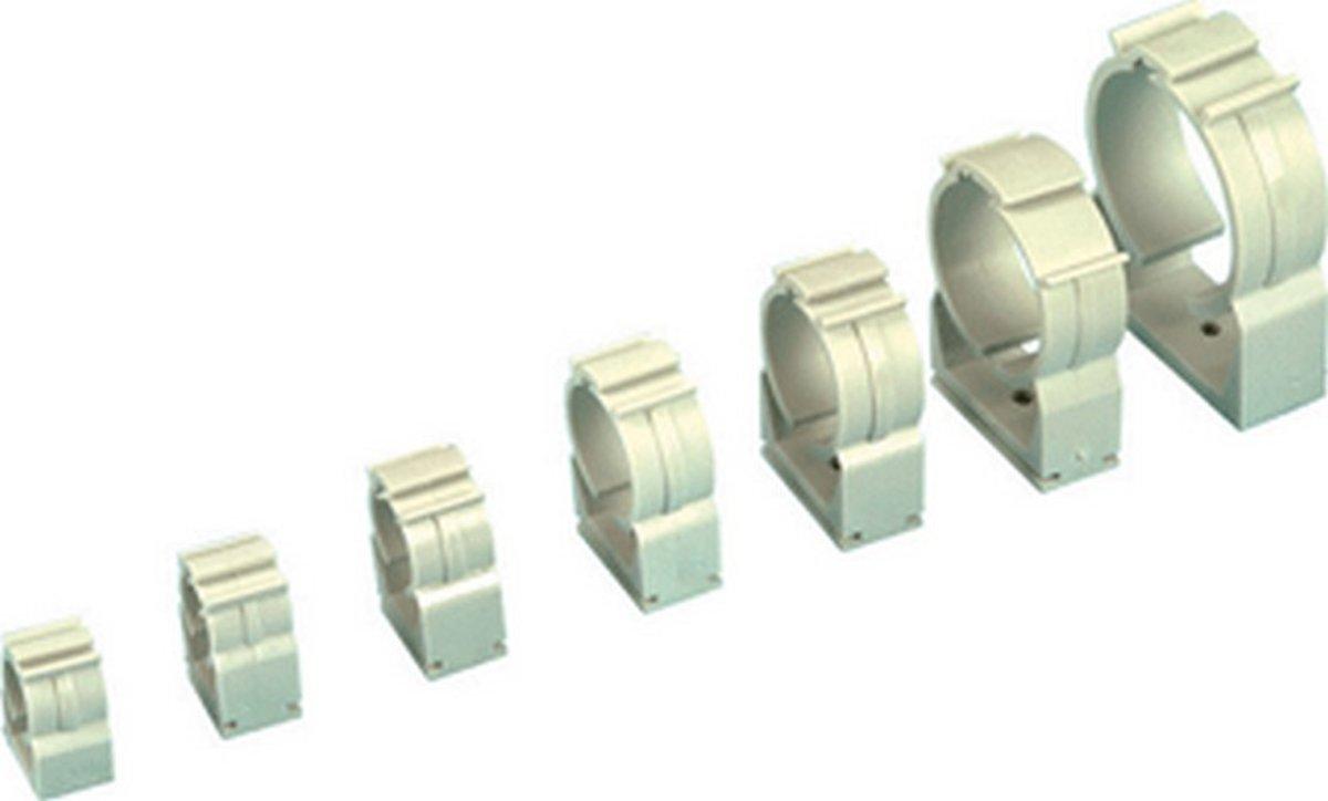 HENC pijpbeugel enkel pijps B-Clip, wit, pijpbeugel kunstst kopen