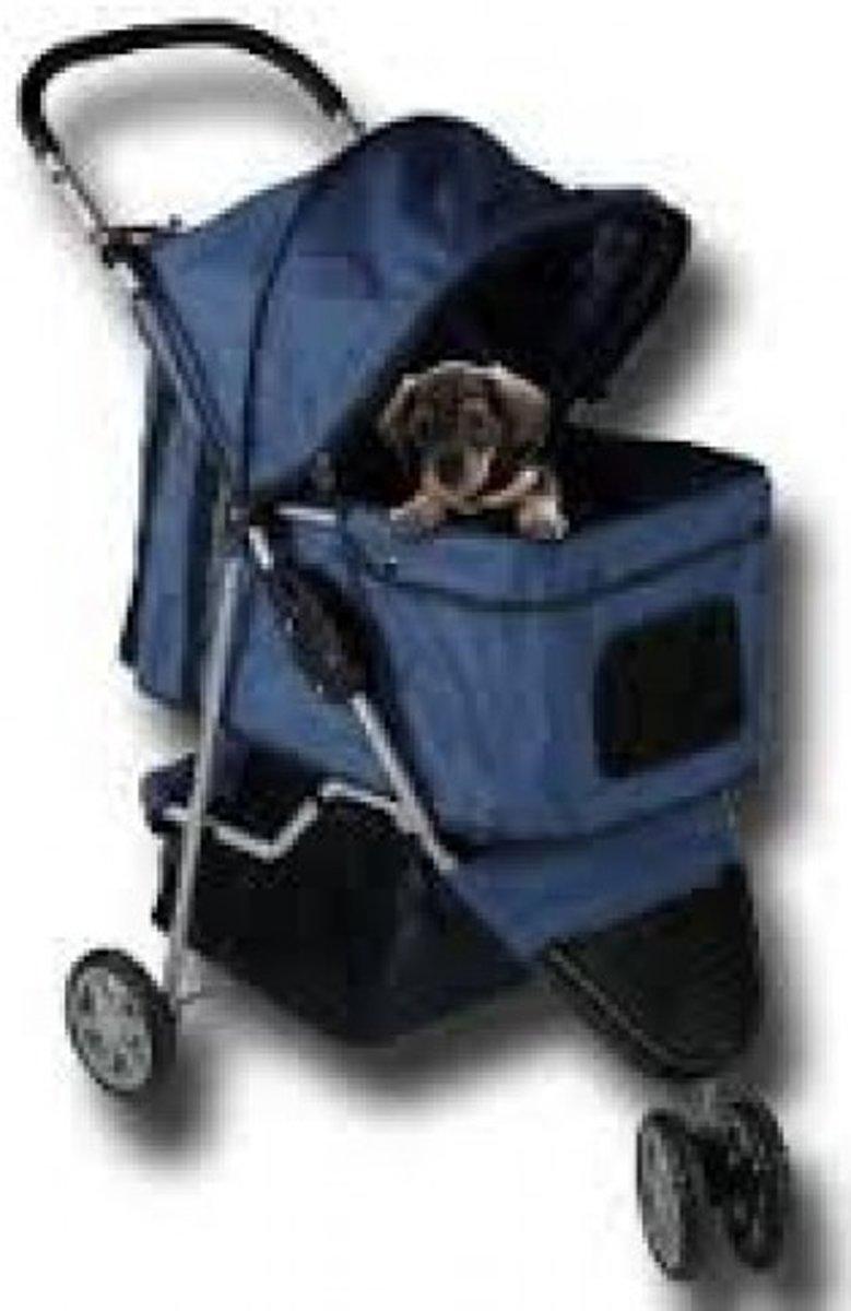 Topmast Hondenbuggy Donkerblauw 3 wielen kopen
