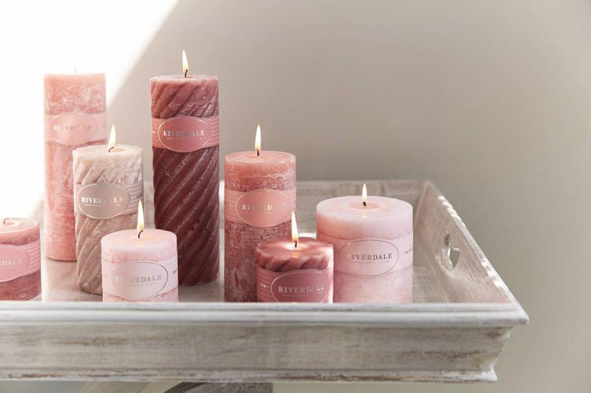 Licht Roze Kaarsen : Bol riverdale kaars pillar lichtroze