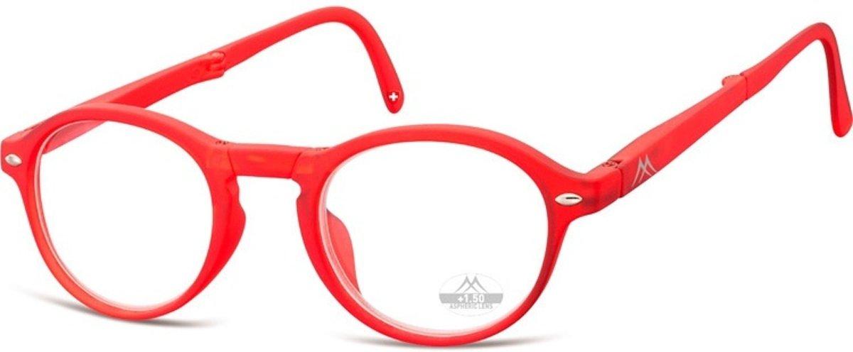 Montana Opvouwbare Leesbril Rood Sterkte +3,00 (box66c) kopen