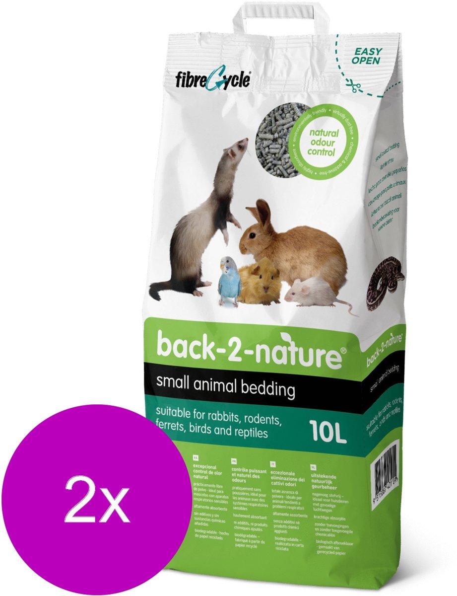 Back-2-Nature Bedding & Litter - Bodembedekking - 2 x 10 l