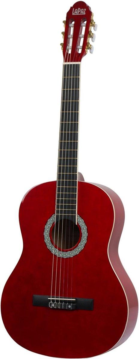 LaPaz 001 FR klassieke gitaar Fiesta Red