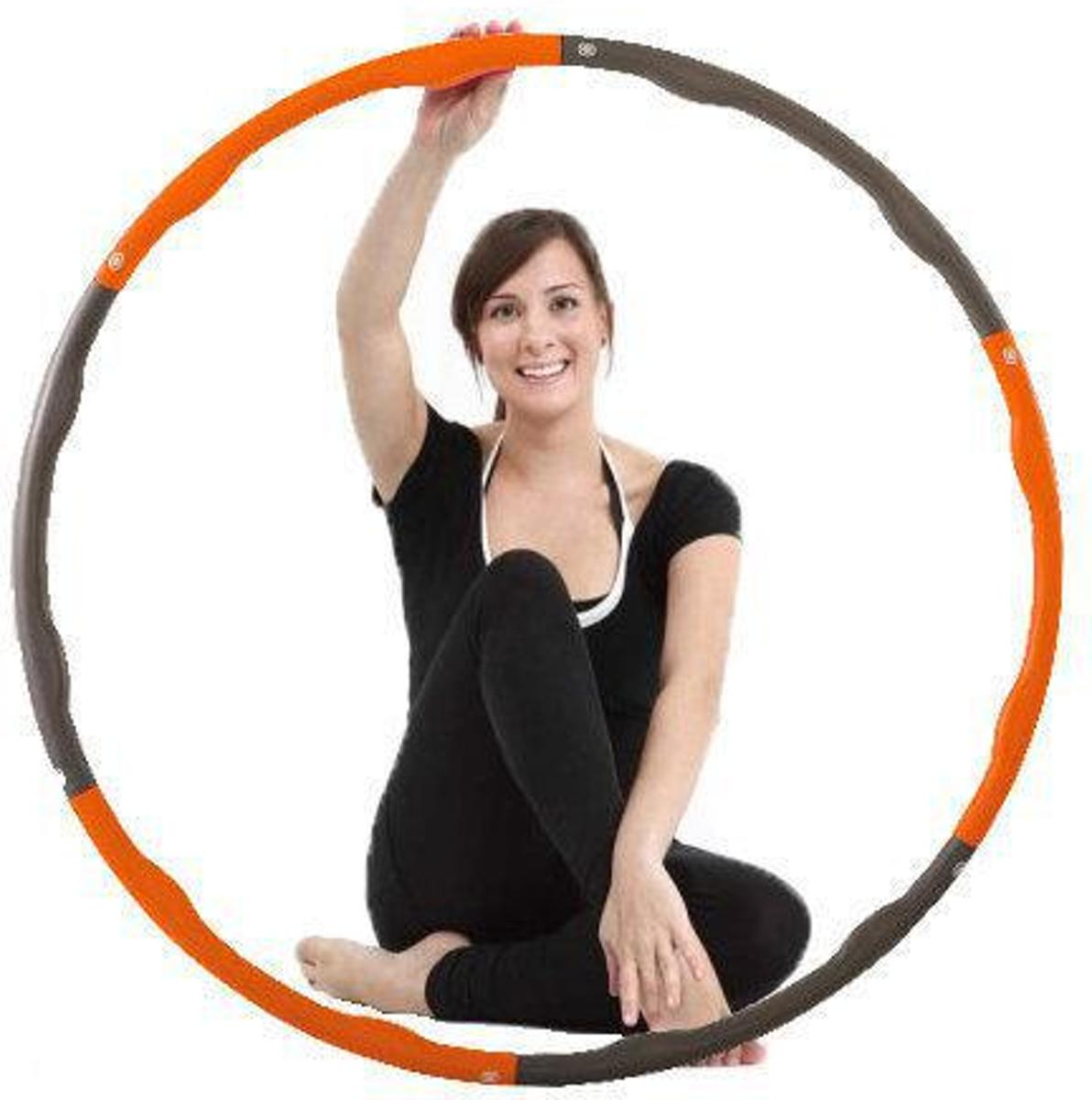 Weight hoop Soft - Fitness Hoelahoep - 1.2 kg - Ø 100 cm - Oranje/Grijs kopen
