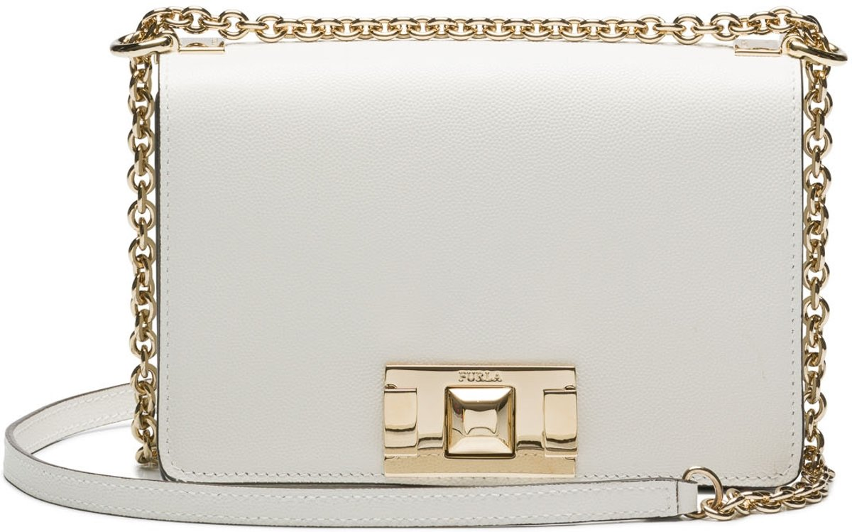 Furla Mimi Mini Chalk Crossbody  - Wit kopen