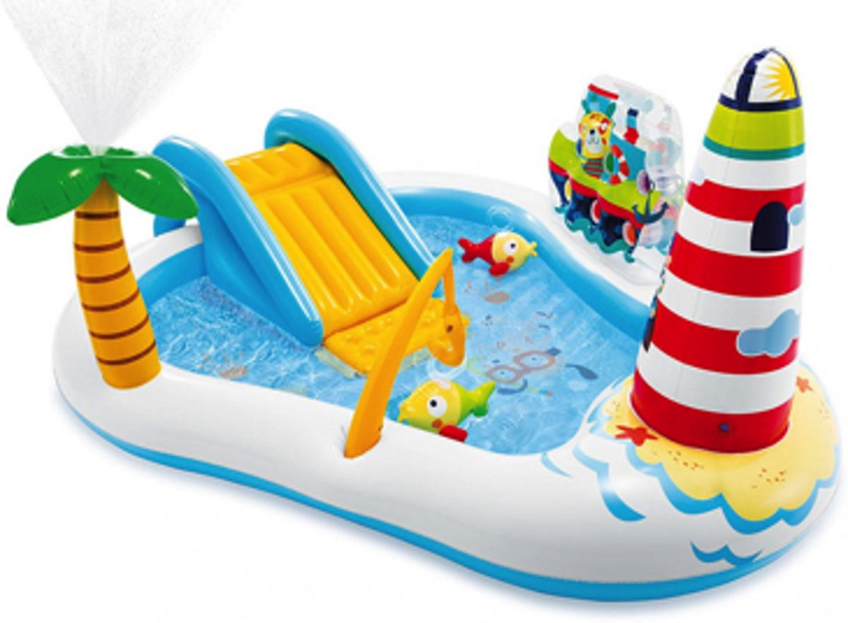 Intex speelbad Fishing Fun 218x188x99cm