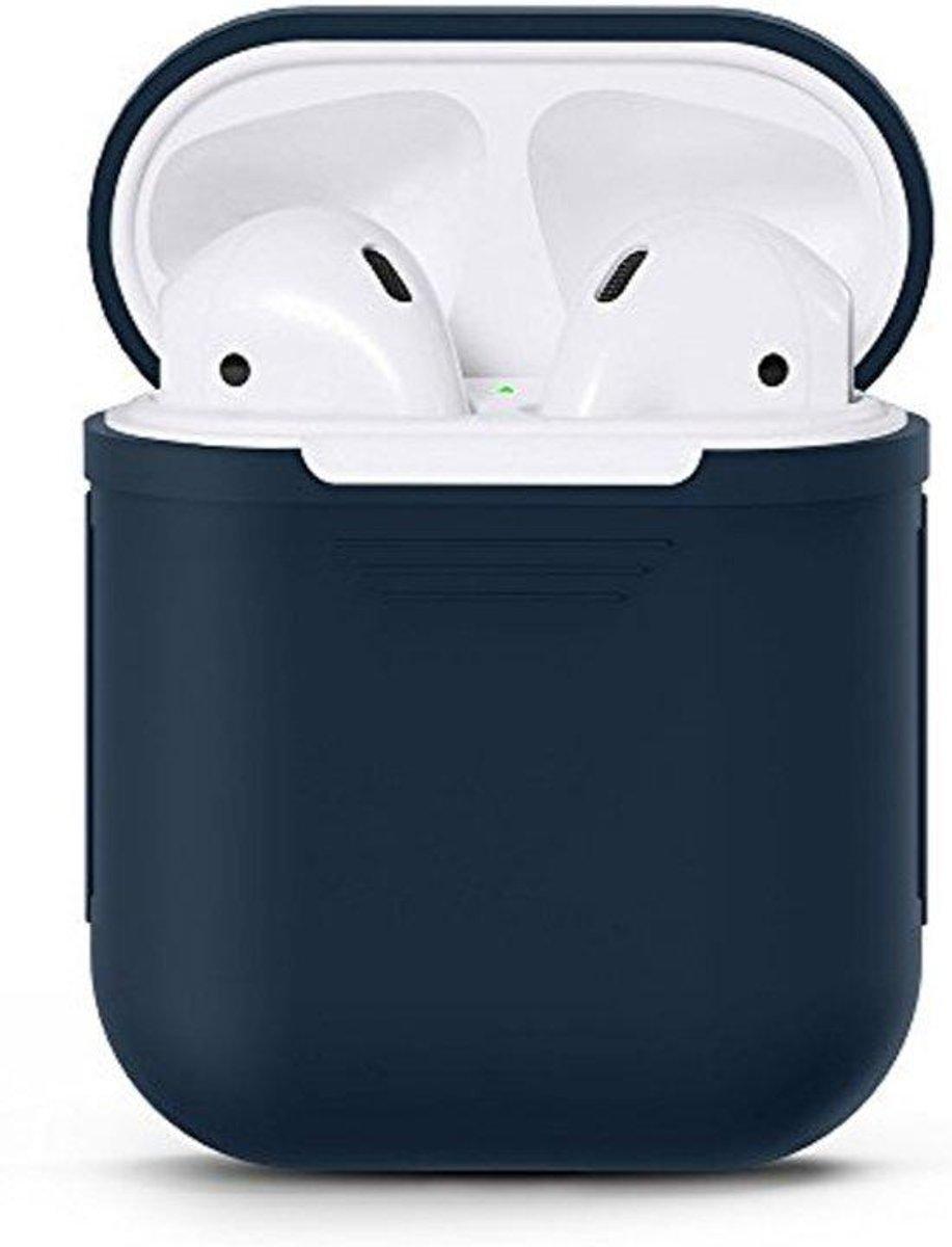 KELERINO. Siliconen hoesje voor Apple Airpods Softcase - Donker Blauw kopen