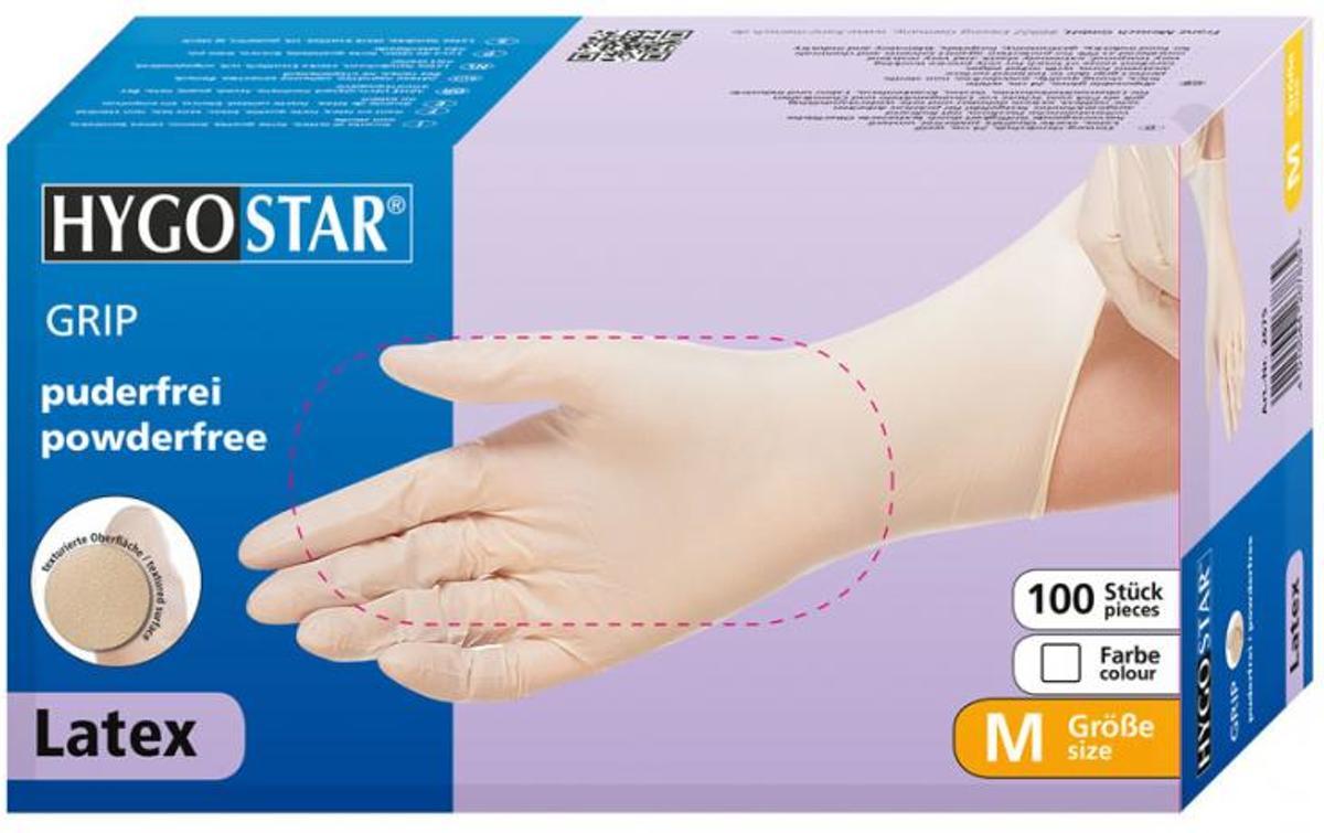 Hygostar latex poedervrije handschoenen kleur wit maat XL kopen