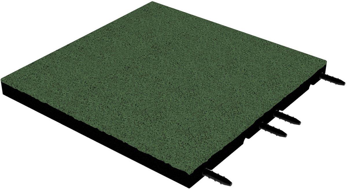 Rubber tegel 45 mm - 50 x 50 cm - Groen kopen