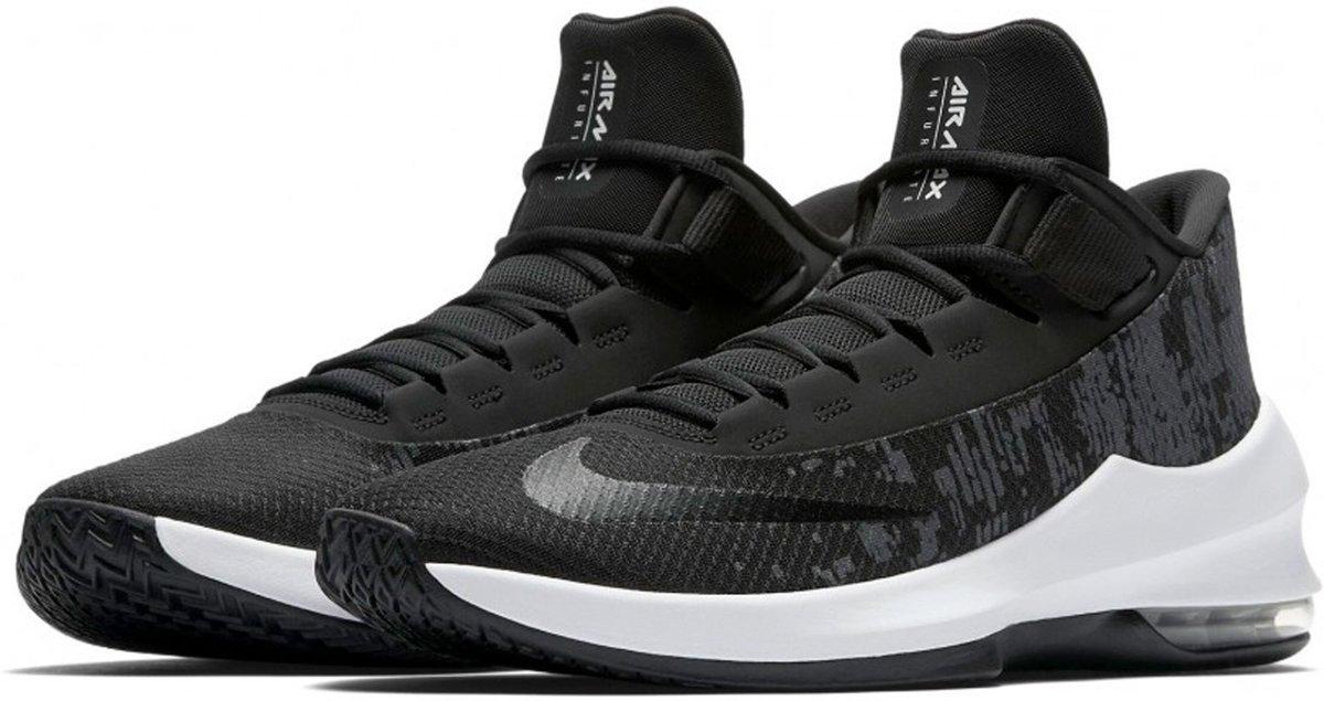 Nike Air Max Infuriate 2 Mid Sneakers Maat 45 Mannen zwartwitgrijs