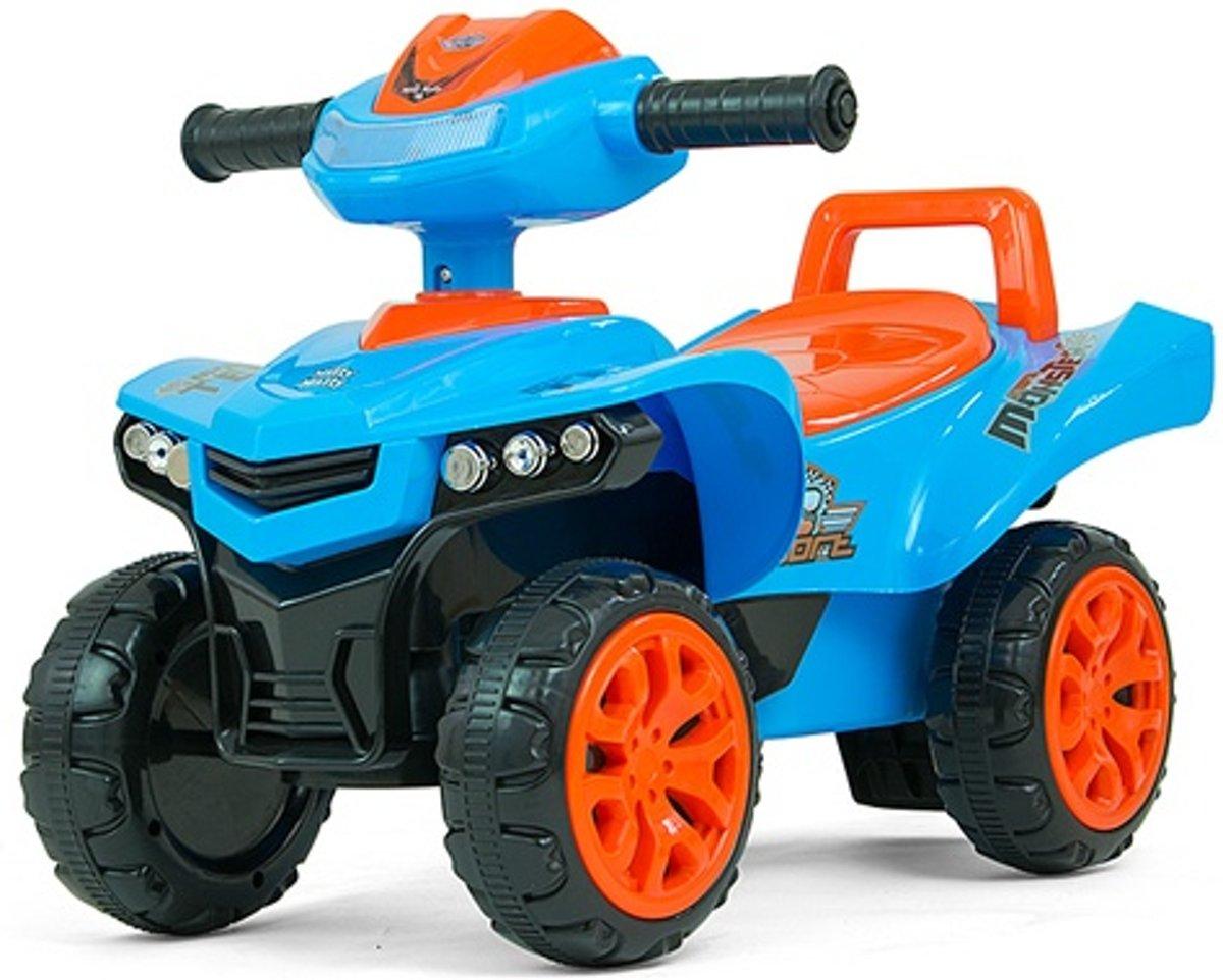 Milly Mally Loopwagen Ride On Monster Junior Blauw