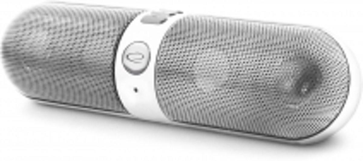 Bluetooth Speaker Piano + FM-radio - wit-zilver kopen