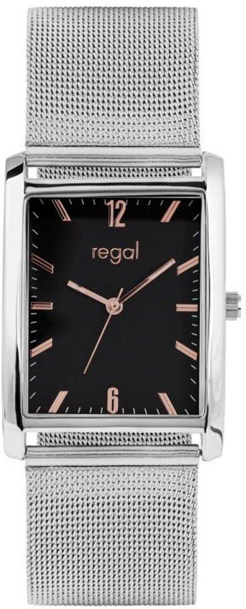 Regal - Regal horloge met zilverkleurige mesh band kopen