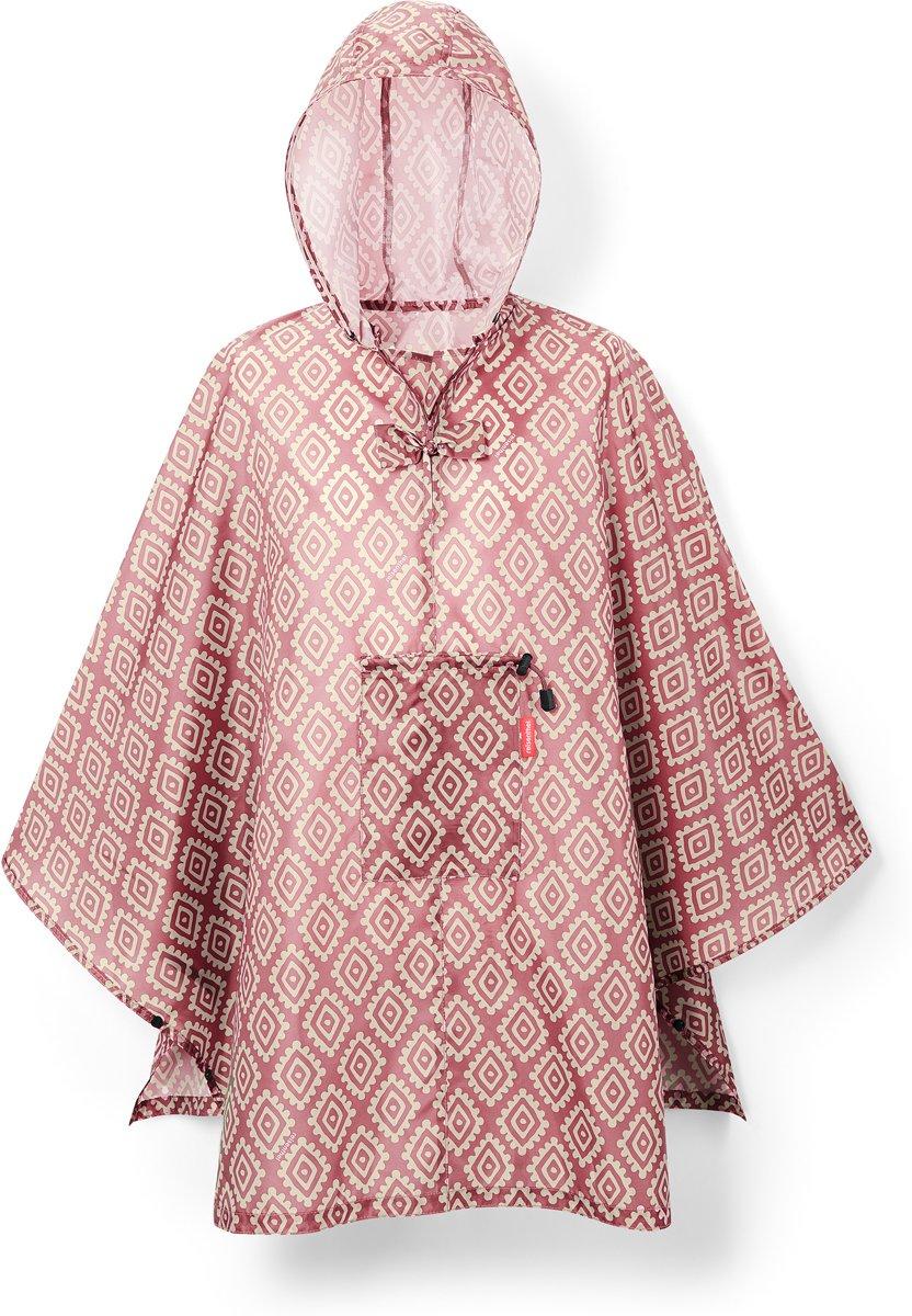 Reisenthel Mini Maxi Poncho RegenPoncho - Opvouwbaar - Diamonds Rouge Rood;Zand kopen