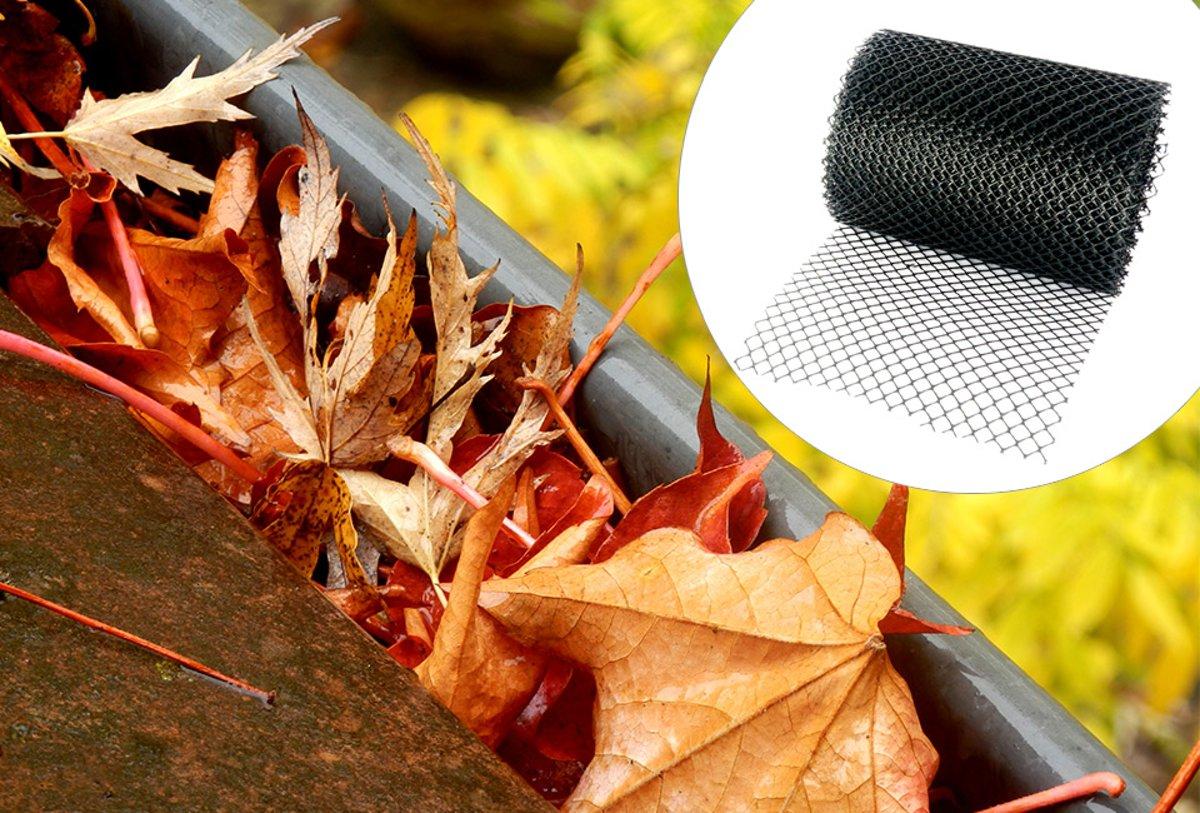 2 x Dakgootbeschermer - bladvanger - gootbeschermer- bescherming dakgoot 6 m x 15 cm kopen