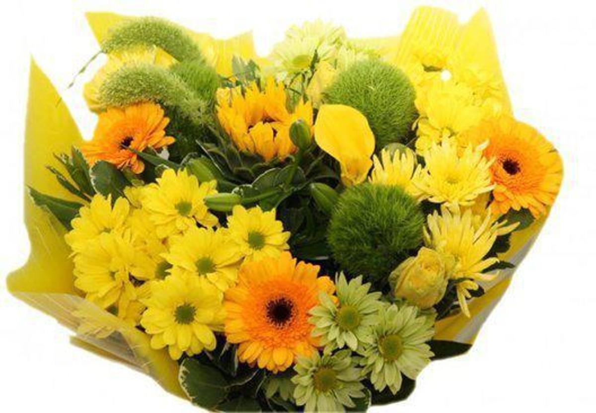 Boeket bloemen XL geel kopen