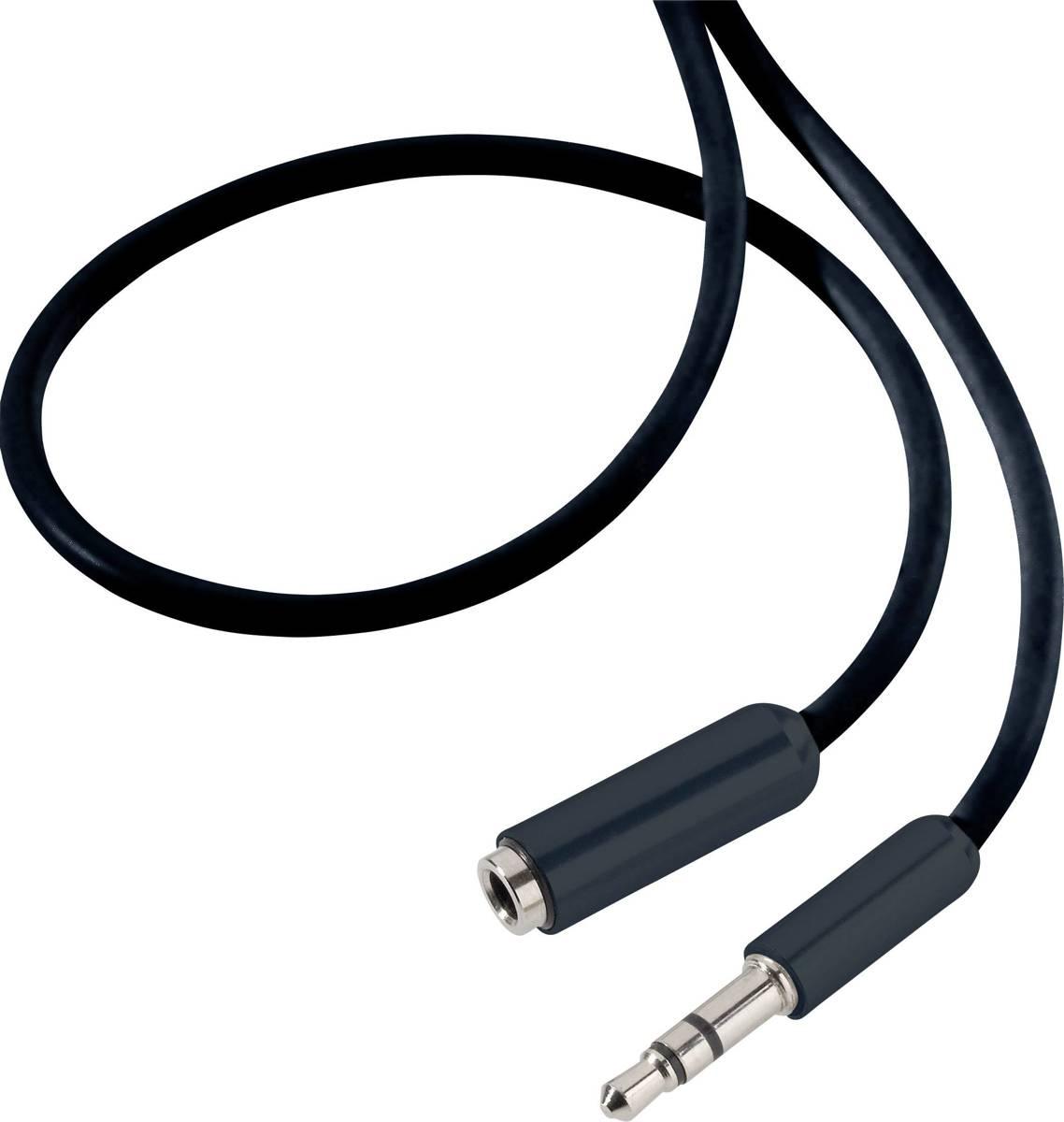 Speaka Professional Jackplug Audio Verlengkabel [1X Jackplug Male 3.5 Mm - 1X Jackplug Female 3.5 Mm] 5 M Zwart Supersoft-Mantel